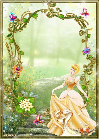 Disney Princess Picture Frame | Disney frames psd for kids ...