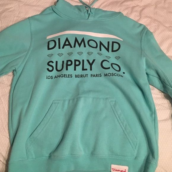 Diamond Supply Company sweatshirt. This sweatshirt has only been worn once and there are no signs of wearing! It is a gorgeous sky blue color and is super comfy! Diamond Supply Co. Other