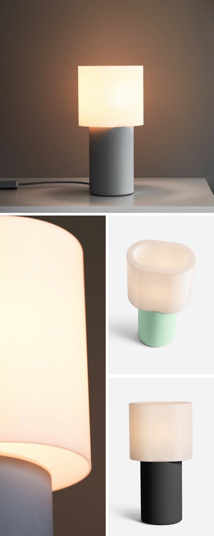 "This modern table lamp will look great in your loft. Goes just as well with concrete countertops as it does with your Eames chair. Inspired by mid century design but fits in well with contemporary architecture. It's 3d printed, made in the USA, and uses LED light bulbs.    ""Scoop"" table lamp designed by Scott Doty - Industrial Design for Gantri.  #lighting #lamp #design #architectureDesign #giftforhim"