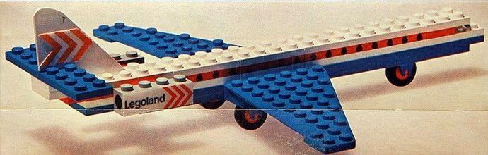 RARE New Lego Set 687(687-1)Legoland-Vintage Aircraft Caravelle Aeroplane-Sealed