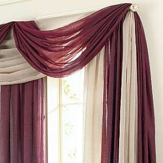 Scarf Valance Measures 48Wx216L. Sold Individually. Hang With A