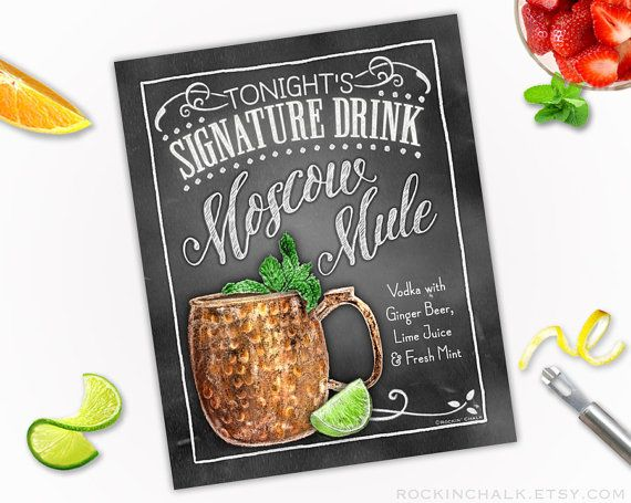 Signature+Drink+Sign++Moscow+Mule+CUP+Vodka+and+by+RockinChalk
