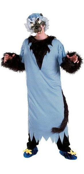 Naamiaisasu; Iso Paha Susi  Iso Paha Susi mummon vaatteissa. Todella upea asukokonaisuus jos haluaa pukeutua vanhaksi ja pelottavaksi mummeliksi, eikun siis sudeksi. Standardikoko. #naamiaismaailma