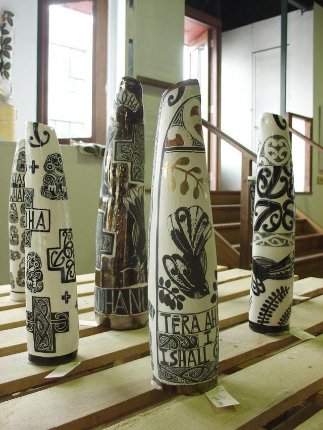 Maori Vases. Amber Smith.