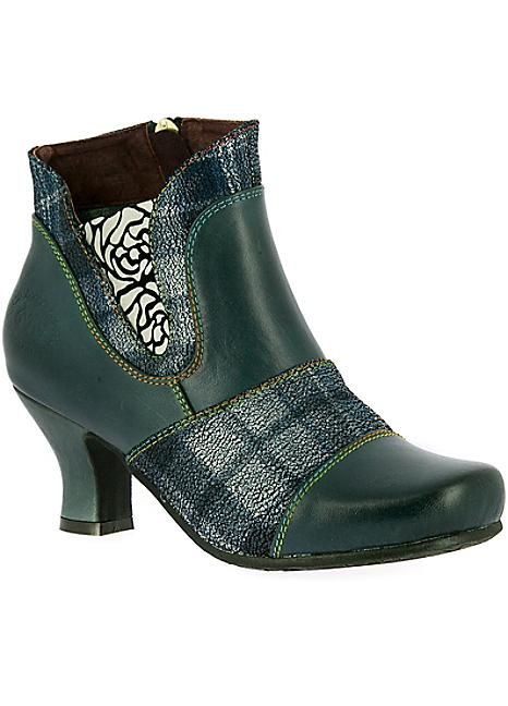 Laura Vita Candice Leather Shoe Boots #Kaleidoscope #Shoes #Tartan #Patterns #Fashion