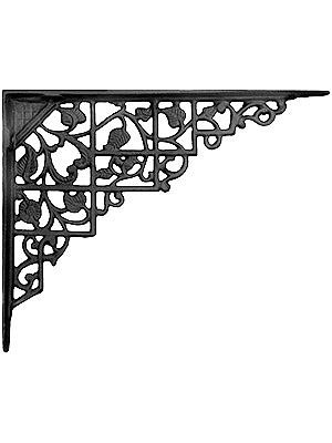 a variety of vintage style cast iron shelf brackets for main bathroom shelving