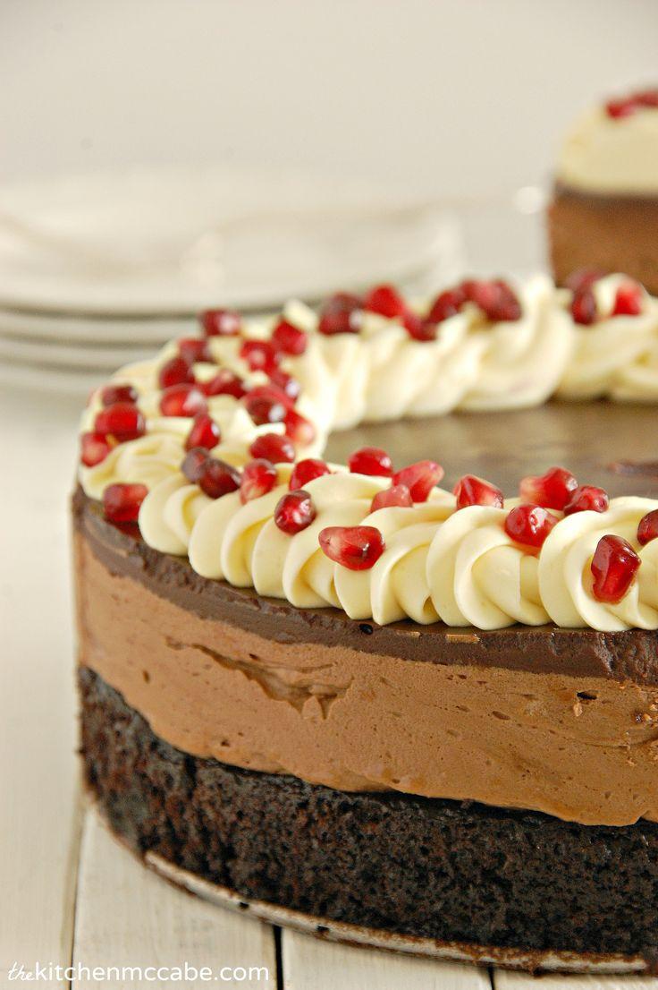 ... triple chocolates chocolates mousse food recipe chocolate mousse cake