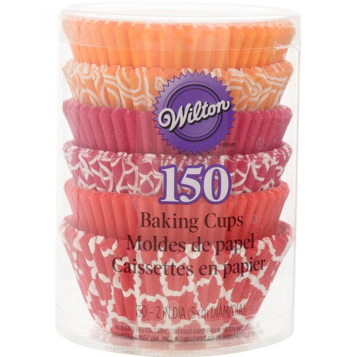 Capacillos Wilton para cupcakes elaborados en papel de diferentes colores y multidiseños.