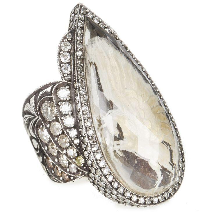 Hirshleifers - Sevan Bicakci  - Aquamarine Unicorn Carving Ring with Diamonds (Silver/Diamond), $26,470.00 (http://www.hirshleifers.com/new-arrivals/sevan-bicakci-aquamarine-unicorn-carving-ring-with-diamonds-silver-diamond/)