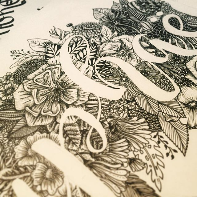 "I am still thinking that we can live doing what we love, anyways when I am drawing, -the thing I love the most- I feel alive in my dream. Thanks Raphaël and @Veyrronique for letting me draw this beautiful name. Here is a detail of the in progress art. ""Here's to the ones who dream, / Foolish as they may seem. / Here's to the hearts that ache. / Here's to the mess we make"" #lalaland #type #typography #typism #fontporn #typegang #typelove #typographyinspired #typomania #typelove #typedaily…"