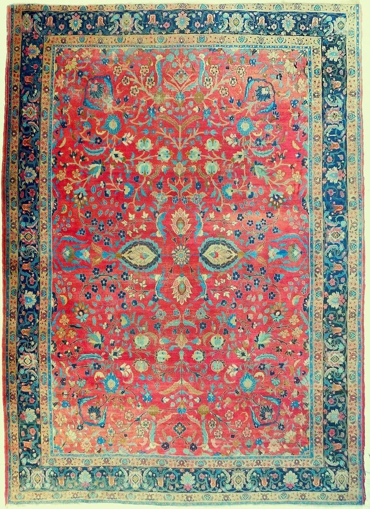 Hand Knotted Antique Persian Tabriz Rug 9 4 X 12 10