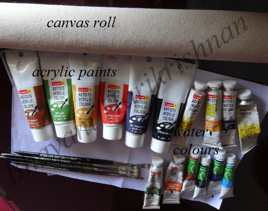 Brush Strokes: Kerala Mural Painting - Free Online Class - Session I - Materials Required