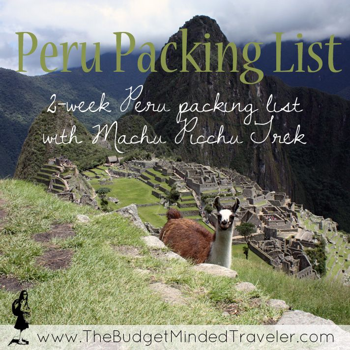 Heading to Peru to hike Machu Picchu? GOOD for you! Let me help you pack! Before we start:   How to Pack for Machu Picchu and Peru Keep in mind: your hostel or hotel in Cusco can hold luggage for you that you do not want to take on your Machu Picchu trek. For that hike, …