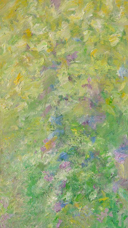 Rautio: Cow parsleys and lupins - Koiranputkia ja lupiineja, 81x46 cm, oil on canvas, 2017.