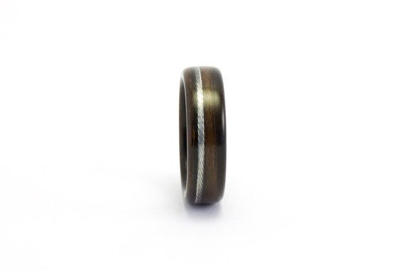 The Bicycle Ring Handmade Ebony Wood and Bike Cable by Ebeniste