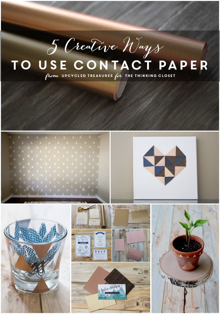 5 Creative Ways to Use Contact Paper | You'll see contact paper in a whole new light after seeing the fresh, modern ways in which Katie uses it as an inexpensive way to dress up her home decor. For instance, did you know there is wood grain contact paper?