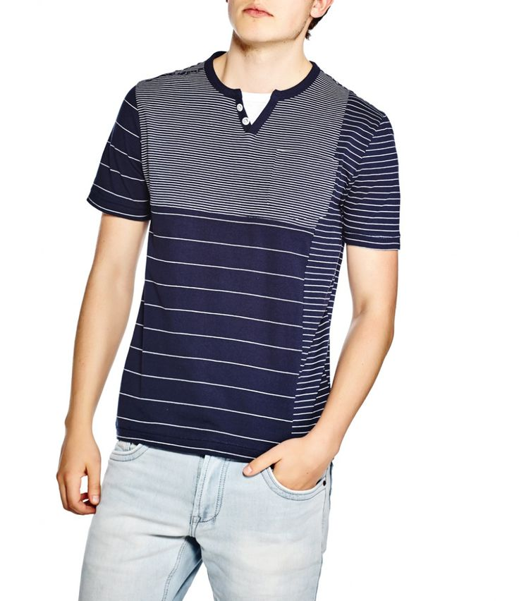 Mutli striped t-shirt with insert