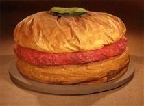 Floor Burger (Giant Hamburger) - Claes Oldenburg