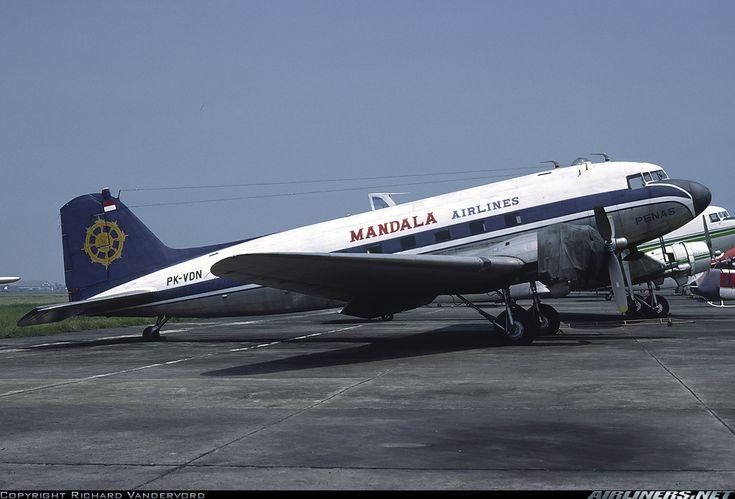 Mandala Airlines Douglas C-47A Skytrain (DC-3) at Kemayoran