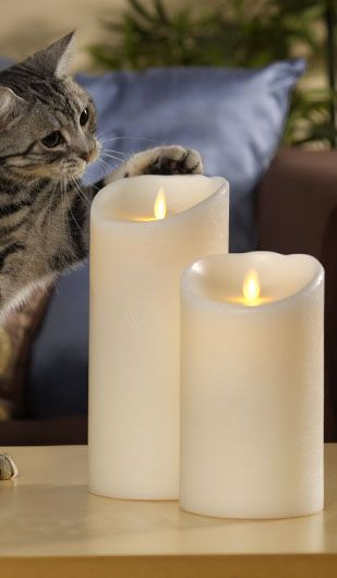 Can you believe that is not a real flame? The Flameless technology of Luminara Candles has the flickering quality and soft glow of a real candle, even made from natural scented wax, without the danger of a naked flame. Just imagine the possibilities!