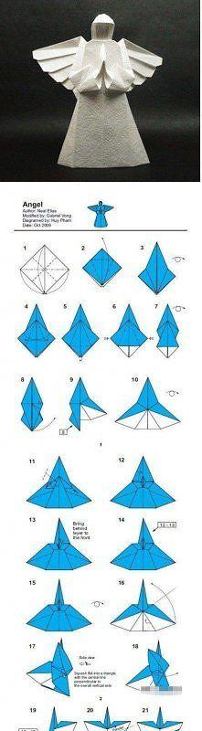 Zobacz zdjęcie Aniołek z papieru na ŚWIĘTA - Boże Narodzenie - origami