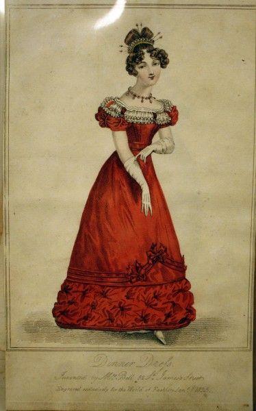 Dinner Dress from Jan. 1, 1825 World of Fashion