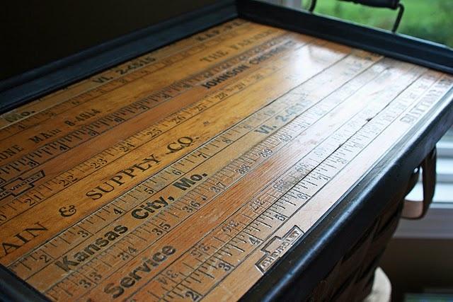 yardstick tray: Yard Sticks, Crafts Ideas, Yardstick Trays, Granny Jane, Crafts Tables, Memorial Tables, Serving Trays, End Tables, Pictures Frames
