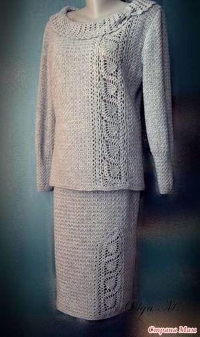 Элегантный костюм крючком - Вязание - Страна Мам