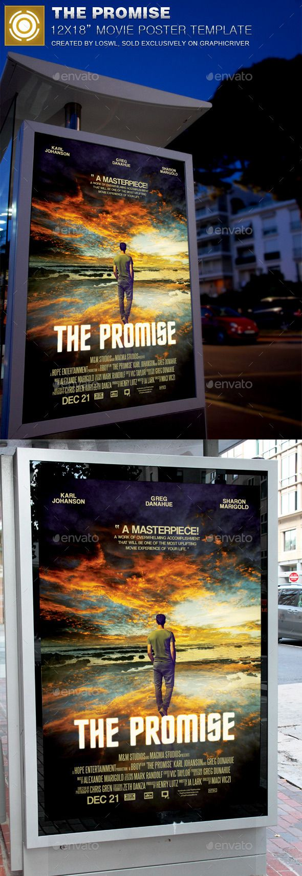 The Promise Movie Poster Template — Photoshop PSD #christian movie #marketing • Available here → https://graphicriver.net/item/the-promise-movie-poster-template/11934603?ref=pxcr