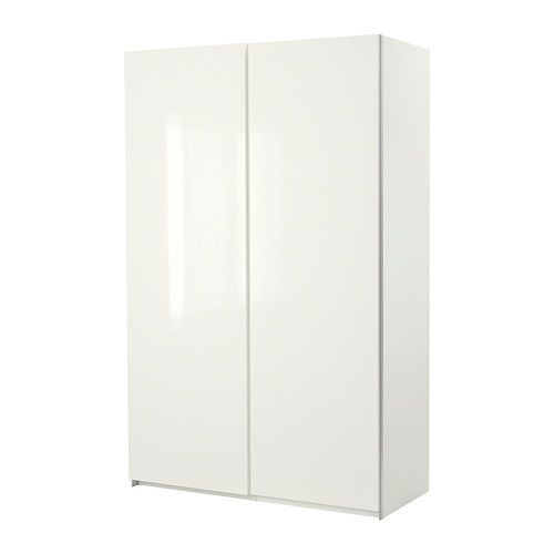 ikea pax wardrobe white with hasvik sliding doors high gloss white product dimensions. Black Bedroom Furniture Sets. Home Design Ideas
