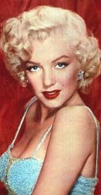MArilyn Monroe 1928 /1952 actriz ,cantante y modelo representación principal  de las decadentes excesos y la belleza femenina