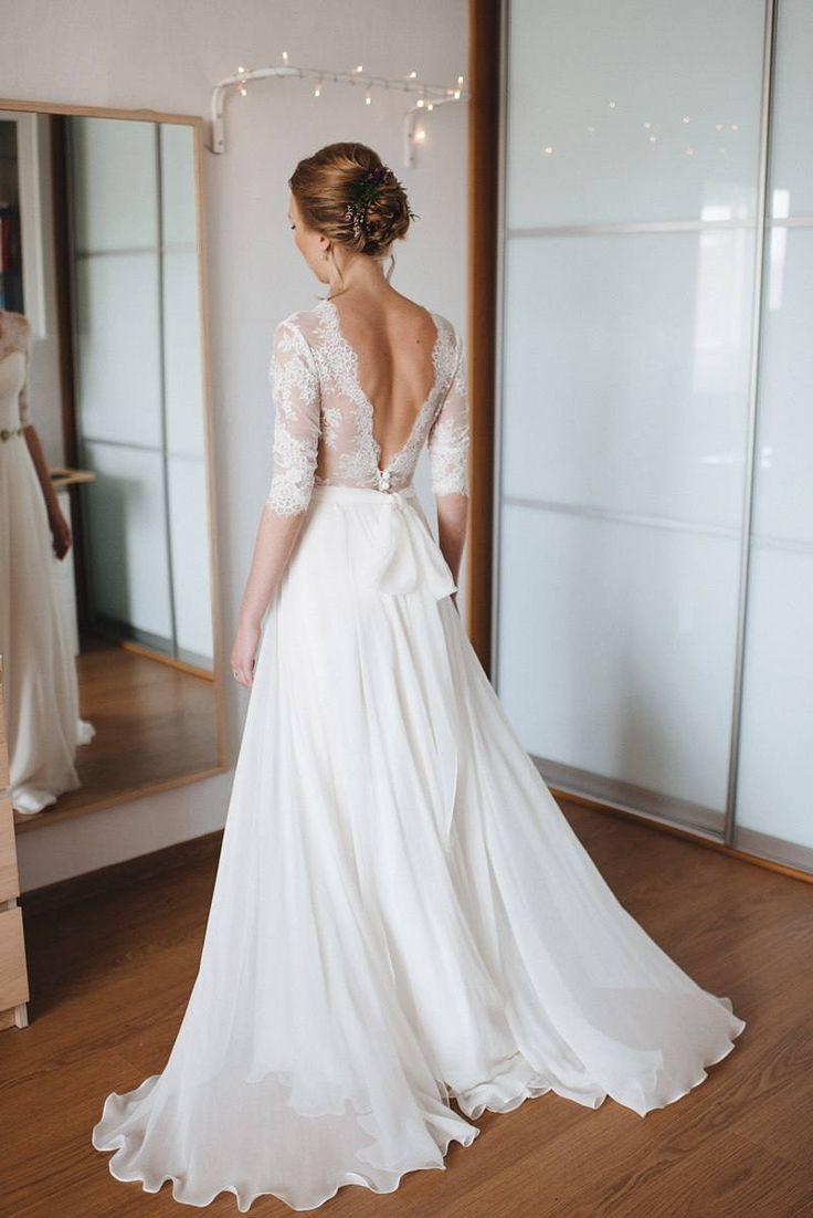 A-Linie Kleid a-Linie Stil schlichtes Brautkleid einfachen Stil