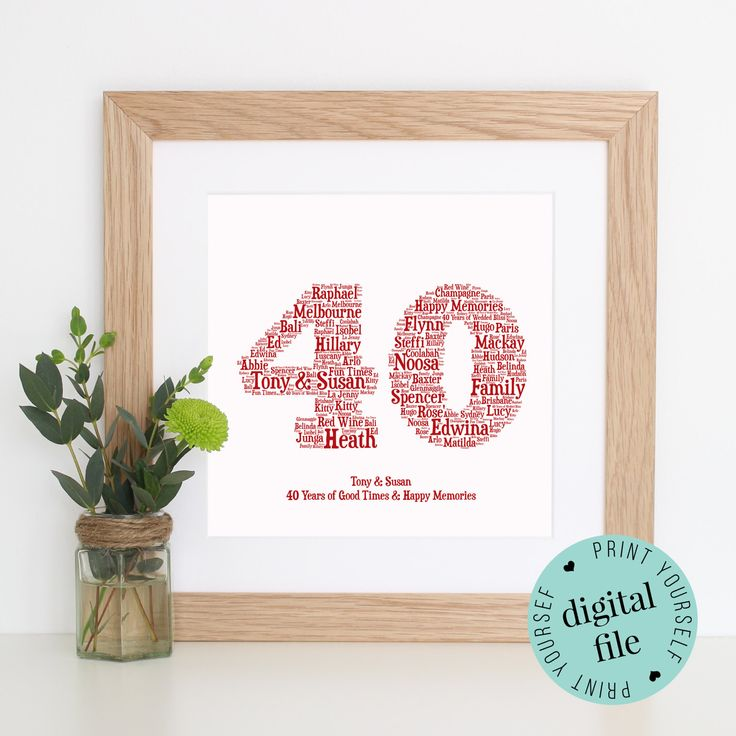 40th Wedding Anniversary Quotes: 25+ Best Ideas About 40th Anniversary Gifts On Pinterest