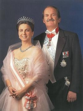 Portugal's Duke of Braganza Duarte Pio and Isabel de Heredia
