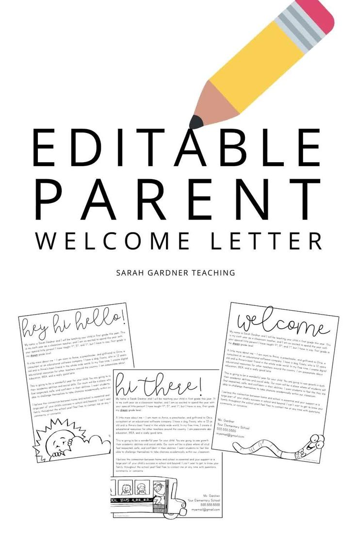 Editable Back to School Parent Welcome Letter [Video