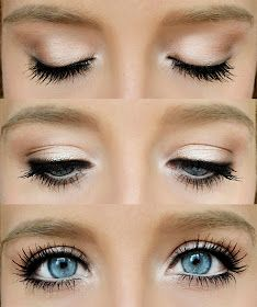 Love this type of natural make up. Makes your eyes look dolly and cute