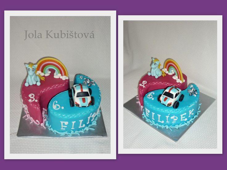 Litlle ponny, cars cake