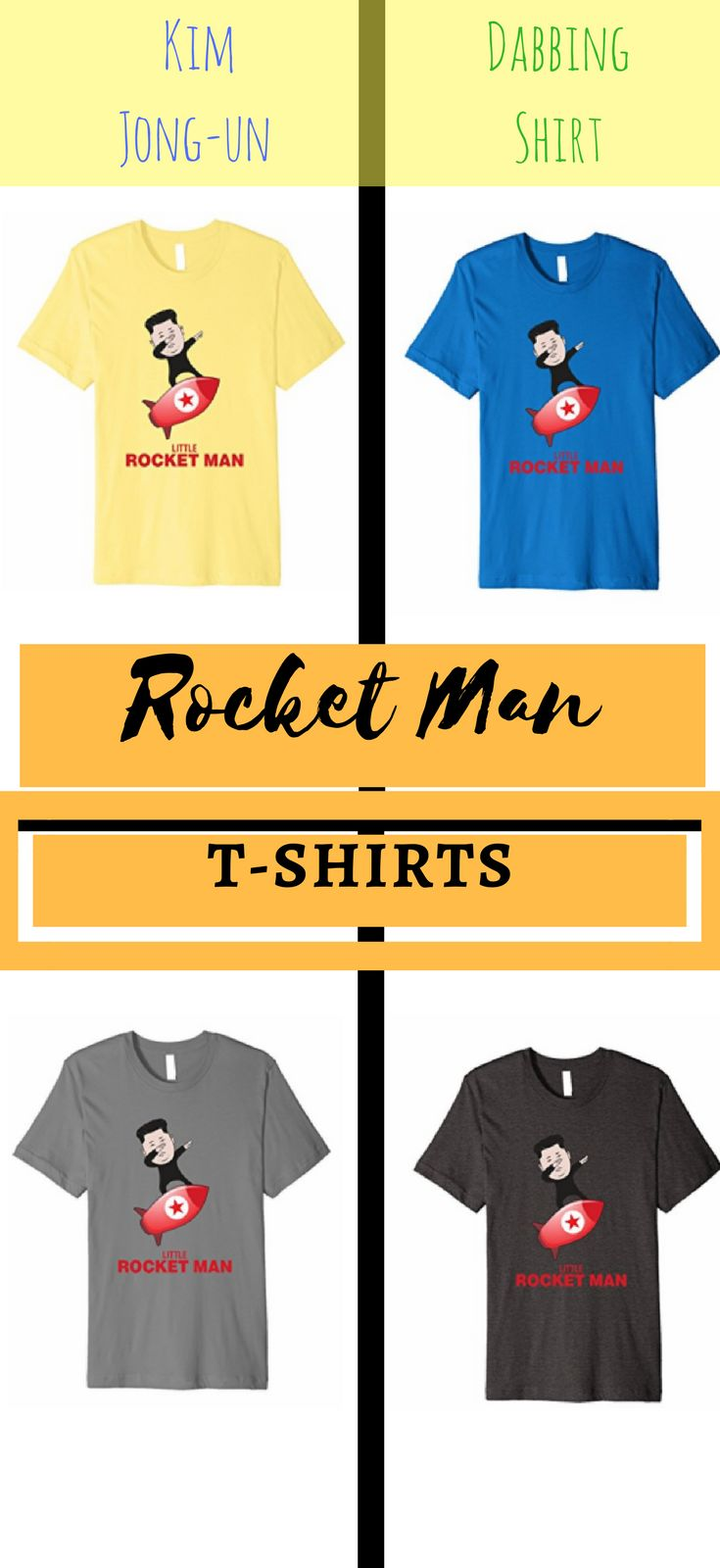 5723caf08 Rocket Man T-Shirt Kim Jong-un Tee Dabbing Shirt. Dabbing Little Rocket Man  T-Shirt. Great gift idea for people who are into polit… | Rocket Man Tshirt  ...