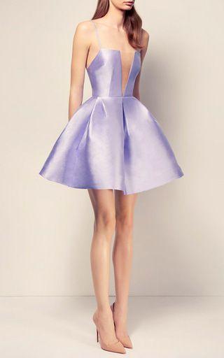 The Ruby Silk Strapless Crinoline Mini Dress by ALEX PERRY for Preorder on Moda…