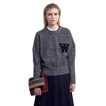 Wood Wood Alicia Sweater (Salt N Pepper)
