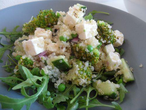 Quinoa salade met groene groenten