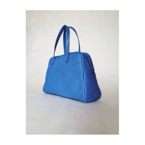 Elita in cobalt.  #bowling #bag #leather #handmade #cobalt #blue #white
