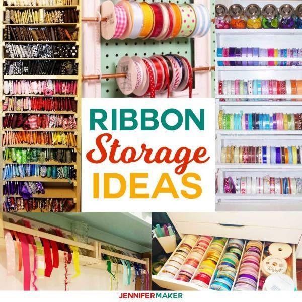 Diy Ribbon Storage Organizers Racks Shelves Ribbon Storage Ribbon Organization Diy Ribbon