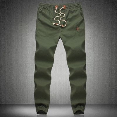 Men's Cotton Jogger Pants, Trousers, Plus Size Sweatpants, Navy Blue, Khaki, Army Green, Black