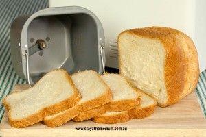 White Bread Recipe for Bread Machine | Stay at Home Mum