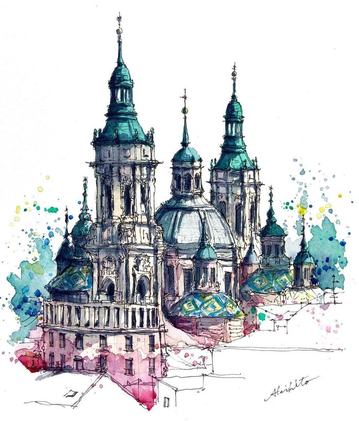 3,426 отметок «Нравится», 58 комментариев — watercolor@horiaki2 (@horiaki2) в Instagram: «スペイン・サラゴサ・聖母ピラール教会 -- Pilar Cathedral , Zaragoza , Spain  ➡️Please visit my website (→profile)…»