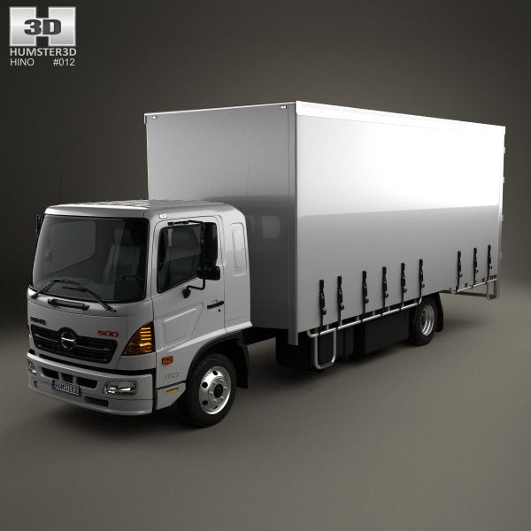Hino 195 Hybrid Box Truck 2012 3d Model From Humster3d Com: 17 Best Images About Hino 3D Models On Pinterest