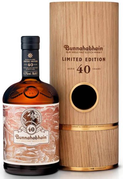 Bunnahabhain 40 YO - rare scotch whisky. Drink your favorite spirit or whisky cocktail at a party, bar or social event.