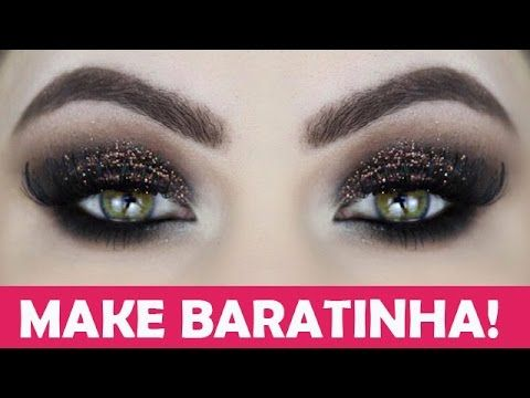 MAQUIAGEM BARATINHA - Olho Esfumado Marrrom e Preto Luxo - Makeup Tutorial