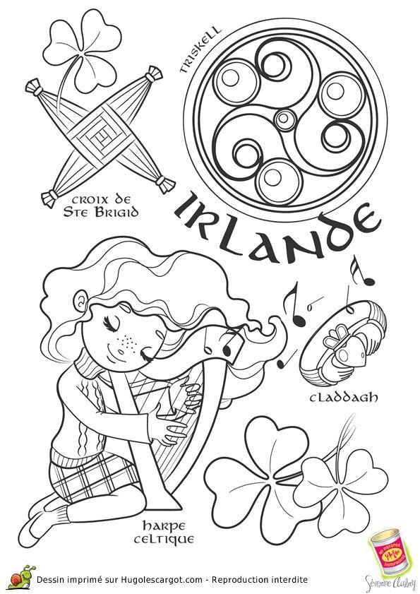 coloriage irlande